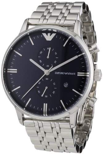 Emporio Armani Herren-Armbanduhr XL Analog Quarz Edelstahl AR1648