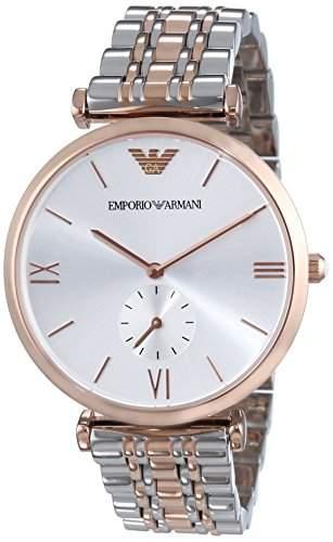 Emporio Armani Herren-Armbanduhr XL Analog Quarz Edelstahl beschichtet AR1677
