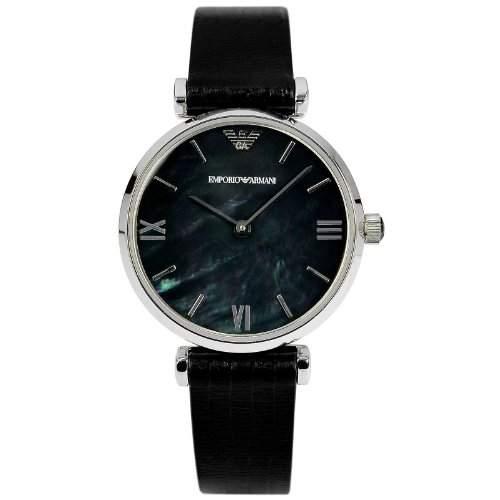 Emporio Armani Damen-Armbanduhr XS Analog Quarz Leder AR1678