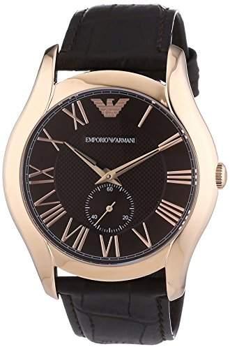 Emporio Armani Herren-Armbanduhr XL Analog Quarz Leder AR1705