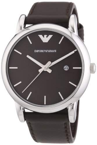 Emporio Armani Herren-Armbanduhr XL Analog Quarz Leder AR1729
