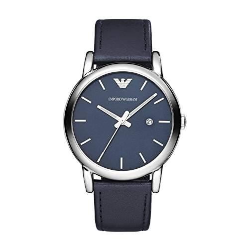 Emporio Armani Herren-Armbanduhr XL Analog Quarz Leder AR1731