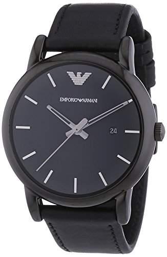 Emporio Armani Herren-Armbanduhr XL Analog Quarz Leder AR1732