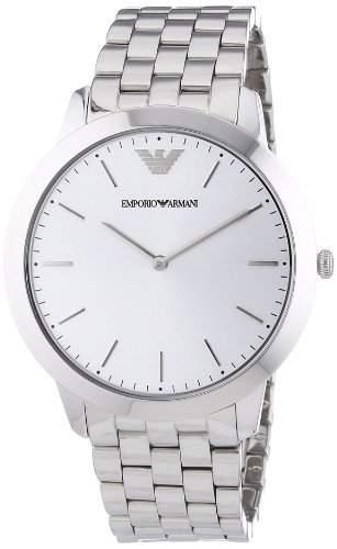 Emporio Armani Herren-Armbanduhr XL Analog Quarz Edelstahl AR1745
