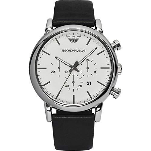 Emporio Armani Herren-Armbanduhr Chronograph Quarz Leder AR1807