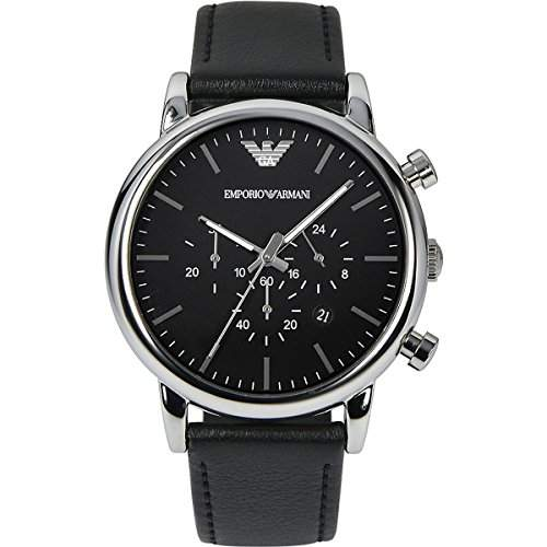 Emporio Armani Herren-Armbanduhr Chronograph Quarz Leder AR1828