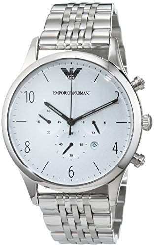 Armani Herren-Armbanduhr Chronograph Quarz Edelstahl AR1879