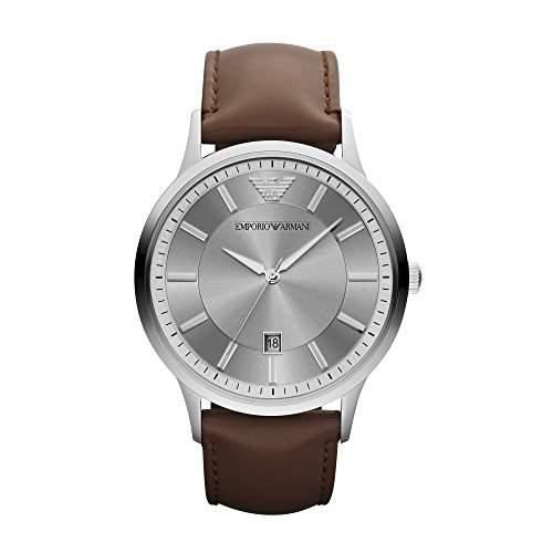 Emporio Armani Herren-Armbanduhr XL Analog Quarz Leder AR2463