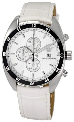 Emporio Armani Herren-Armbanduhr XL Chronograph Leder AR5915
