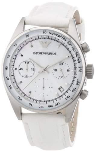 Emporio Armani Damen-Armbanduhr Chronograph Quarz Leder AR6011