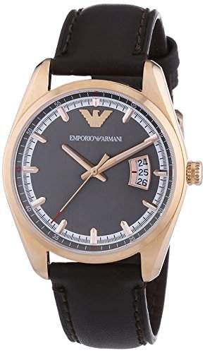 Emporio Armani Herren-Armbanduhr XL Analog Quarz Leder AR6024