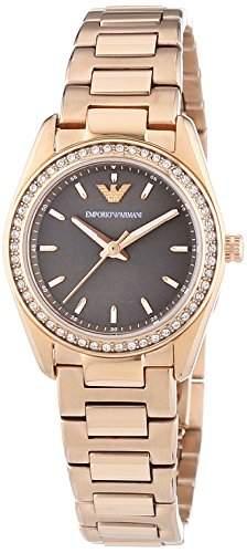 Emporio Armani Damen-Armbanduhr XS Analog Quarz Edelstahl AR6030