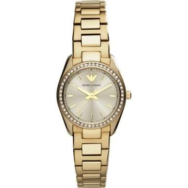 Emporio Armani Damen-Armbanduhr XS Analog Quarz Edelstahl AR6031