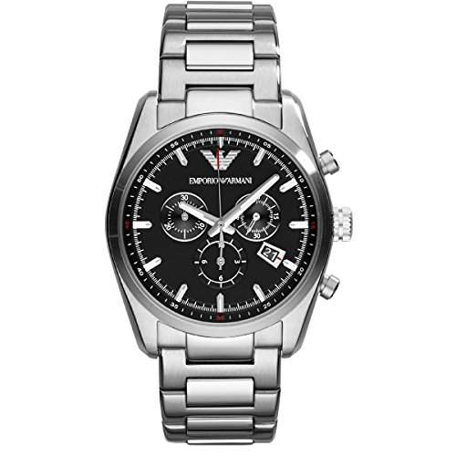 Emporio Armani Herren-Armbanduhr XL Chronograph Quarz Edelstahl AR6050