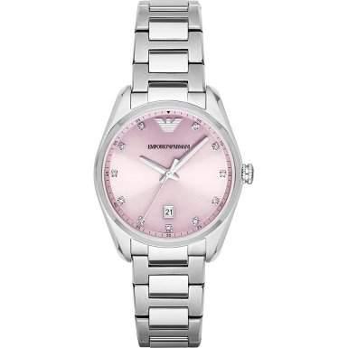Emporio Armani Damen-Armbanduhr Analog Quarz Edelstahl AR6063