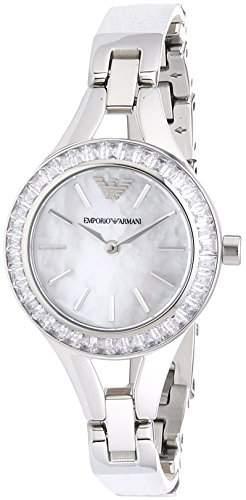 Emporio Armani Damen-Armbanduhr Analog Quarz Leder AR7353