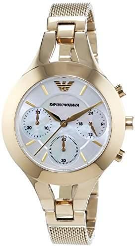 Emporio Armani Damen-Armbanduhr Chronograph Quarz Edelstahl beschichtet AR7390