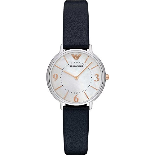Emporio Armani Damen Armbanduhr Analog Quarz One Size perlmutt blau