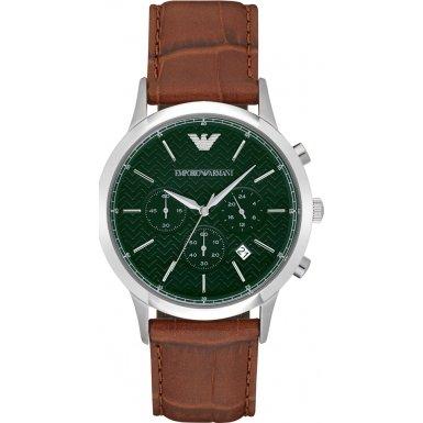 Emporio Armani Chronograph Quarz Leder AR2493