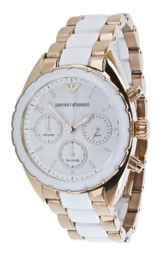 Emporio Armani Damen-Armbanduhr XS Chronograph Edelstahl AR5942