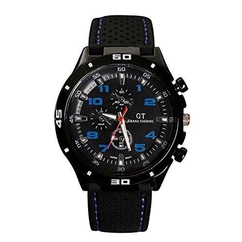 GSPStyle Silikon 3 dekorativ Zifferblatt Analog Uhren Farbe blau