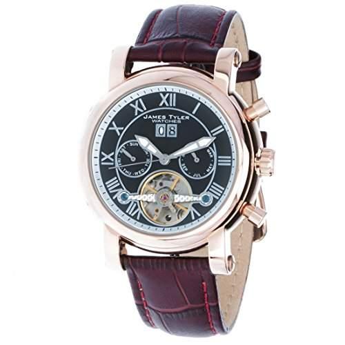 James Tyler Herren-Armbanduhr, Automatik Chronograph mit Kalender, JT700-4