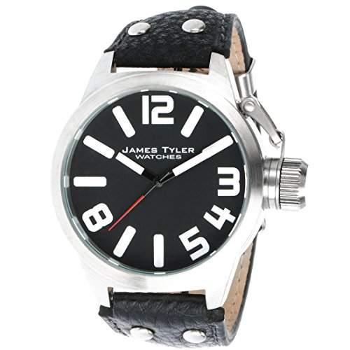 James Tyler Herren-Armbanduhr, Quarz-Werk, Edelstahl gebuerstet, JT702-1