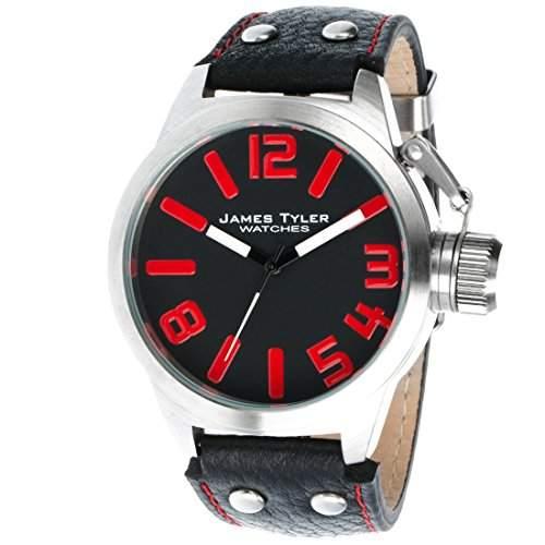 James Tyler Herren-Armbanduhr, Quarz-Werk, Edelstahl gebuerstet, JT702-3