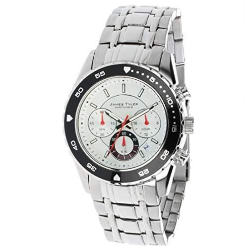James Tyler Herren-Armbanduhr Chronograph Quarz Edelstahl,JT704-1