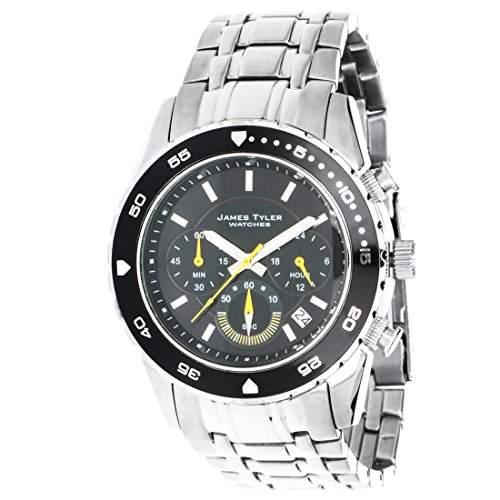 James Tyler Herren-Armbanduhr Chronograph Quarz Edelstahl, JT704-2