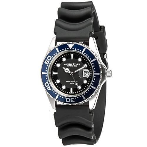 James Tyler Herren-Armbanduhr, Quarz-Werk mit Kautschukband, JT705-2