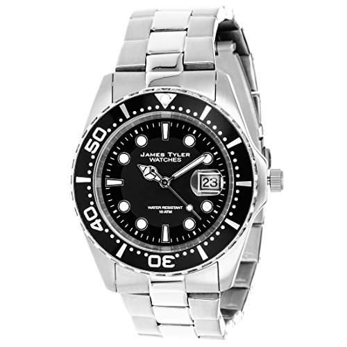 James Tyler Herren-Armbanduhr, Quarz Chronograph mit Edelstahl Armband, JT705-3
