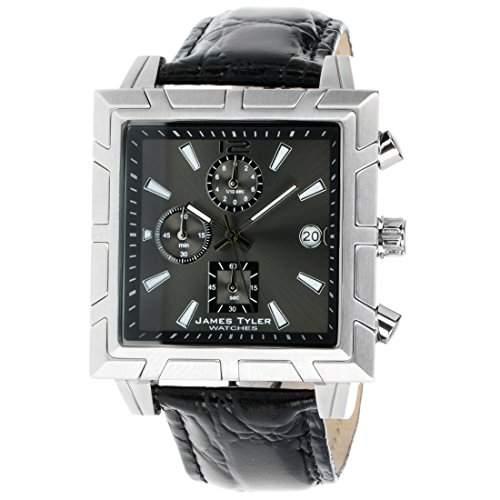 James Tyler Herren-Armbanduhr, Quarz Chronograph, Quadratisch Edelstahl gebuerstet JT710-1