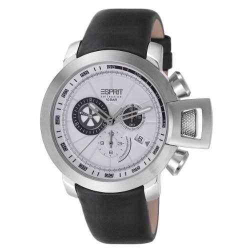 Esprit Herren-Armbanduhr XL Aeolus day Chronograph Quarz Leder EL101831F02