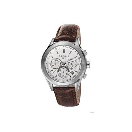 Armbanduhr mit Chrono Esprit es107031003 Leder Schokolade 210