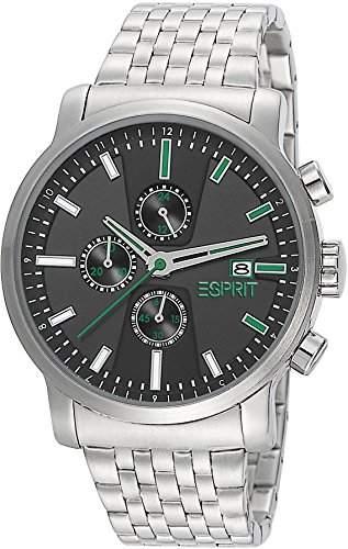 Esprit Herren-Armbanduhr XL Atrium Chrono Night Chronograph Quarz Leder