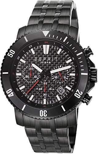 Esprit Herren-Armbanduhr Barstow Midnight Chronograph Quarz Edelstahl ES106861004