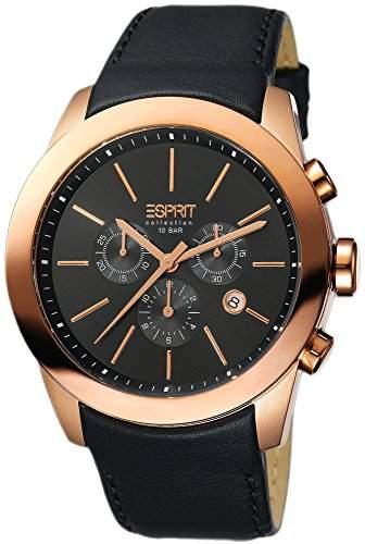 Esprit Collection Herren-Armbanduhr Belos Chronograph Quarz Leder EL900151003