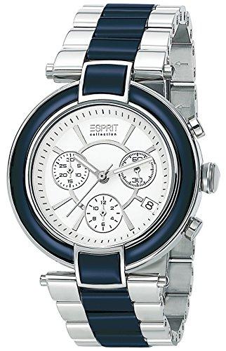 Esprit Collection Damen Armbanduhr Physis Chronograph Quarz Keramik EL101582F03