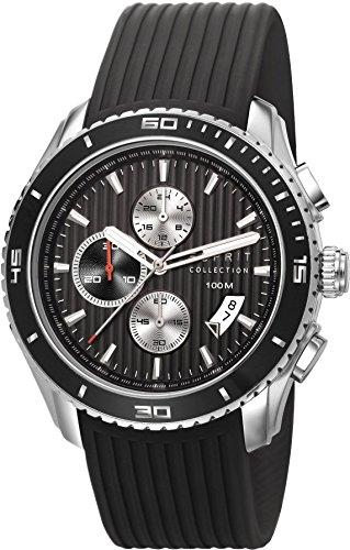 Esprit Collection Herren Armbanduhr Hedone Chronograph Quarz Kautschuk EL102111F01