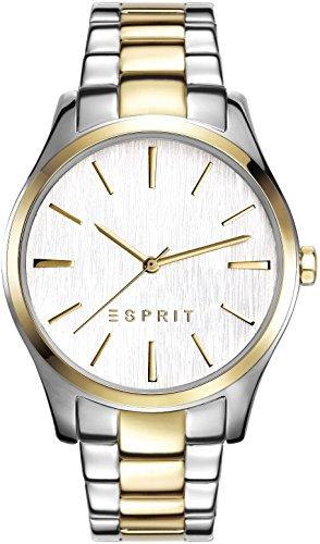 Esprit Damen Armbanduhr Audry Two Tone Analog Quarz Edelstahl ES108132007