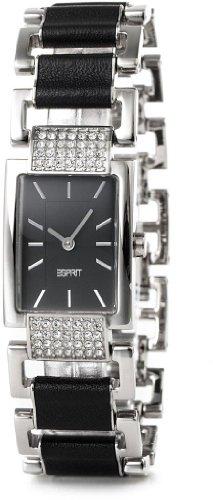 Esprit Damen Armbanduhr Pura Glam Black Analog Quarz verschiedene Materialien ES104262001