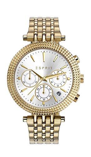 Esprit Damen Armbanduhr TP10874 Gold Analog Quarz Edelstahl beschichtet ES108742003