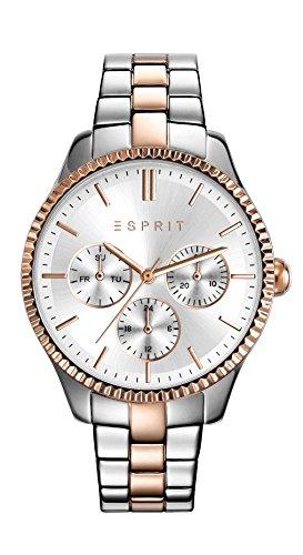 Esprit Damen Armbanduhr TP10894 Two Tone Rose Gold Analog Quarz Edelstahl beschichtet ES108942005