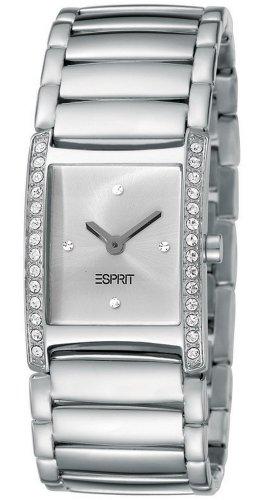 Esprit Damen Armbanduhr Trace Silver Analog Quarz Edelstahl ES103712003
