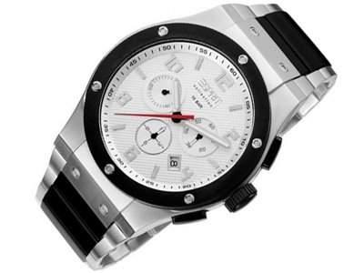 ESPRIT Collection Herren Armbanduhr Uhr EL101001F06 Phorkus Stell White
