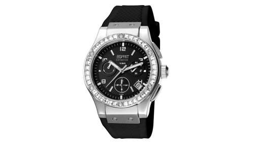 Esprit Damen-Armbanduhr Chronograph Leder EL101002F02