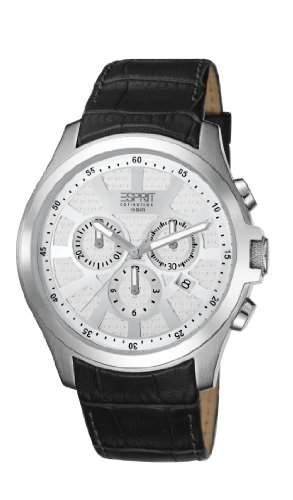 ESPRIT Collection Herren-Armbanduhr Kratos Chronograph Quarz Leder EL101801F01