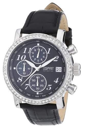 esprit damen armbanduhr chronograph leder el900322001. Black Bedroom Furniture Sets. Home Design Ideas