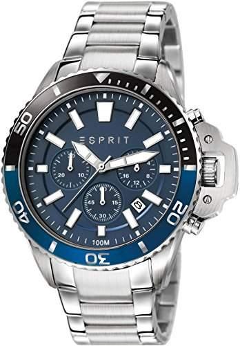 Esprit Herren-Armbanduhr XL Chronograph Quarz Edelstahl